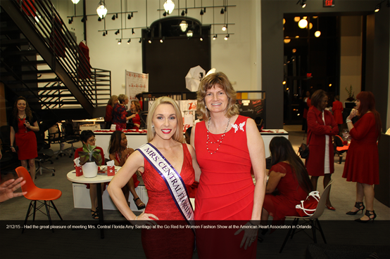 Elizabeth Scovil Speaker at for National Association of Professional Women's (Orlando Chapter) Macy's New York Fashion Show Standing with Mrs Central Florida, Amy Santiago