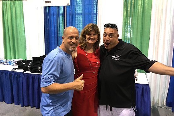 Honor to share the Celebrity stage with Wayde King & Brett Raymer from Tanked-Animal Planet tv show At our local Orlando Home & Garden Show.